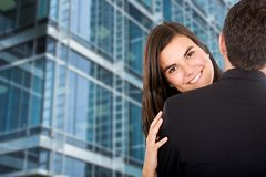 Business hug Royalty Free Stock Images