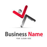 Business human icon design. 3d business human icon design and vector illustration Royalty Free Stock Image