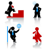 Business human icons Stock Images