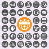 Business and human icons set Stock Image