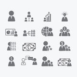 Business Human icons Royalty Free Stock Photography