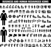 Business and Human Reosurces icons Stock Photos