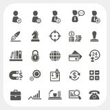 Business, Human resource and Finance icons set Royalty Free Stock Photography