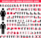 Business and Human Resource icons Royalty Free Stock Image