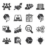 Business and human resource icons Royalty Free Stock Photography