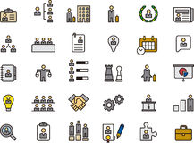 Business human resources icon set Stock Photos