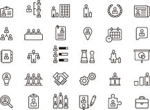 Business, Human Resources & Management icon set Stock Images