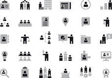 Business, Human Resources & Management icons Stock Photography