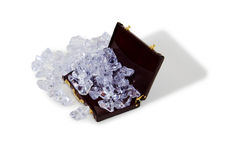 Business on ice. Ice cubes of frozen water used to cool liquids Royalty Free Stock Photo