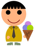 Business ice cream Royalty Free Stock Image