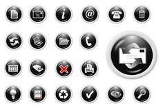 Business icon. 3d business icon set - web design illustration Stock Images