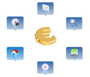 Business icon. 3d business icon set - web design illustration Royalty Free Stock Image