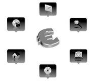 Business icon. 3d business icon set - web design illustration Royalty Free Stock Photos