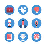Business Icon Collection Strategy Concept Set Royalty Free Stock Photography