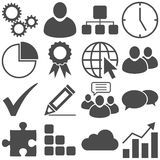 Business icon collection. Collection for business use with 16 different icons Stock Photos