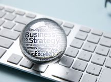 Business icon in crystal ball royalty free stock photos