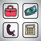 Business icon design Stock Photos