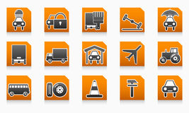 Business icon directory service station set sign Royalty Free Stock Images