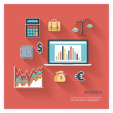 Business icon flat vector Royalty Free Stock Image