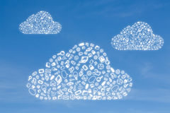 Business icon in form cloud Stock Photography