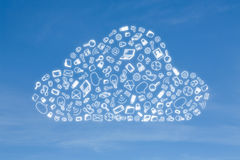 Business icon in form cloud Stock Photos