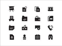 16 Business icon pack vector. Elements of design for web and mobile applications. available EPS09 Royalty Free Stock Photography