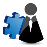 Business icon and puzzle piece Royalty Free Stock Photography