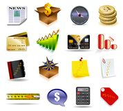 Business icon set. Vector business styled icons in detail Royalty Free Stock Image