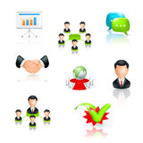 Business, icon set Royalty Free Stock Photos