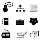 Business icon set. In black Stock Image