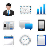 Business icon set. Illustration Royalty Free Stock Photography