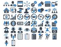 Free Business Icon Set Royalty Free Stock Photos - 56421248