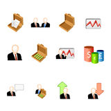 Business icon set Stock Photo