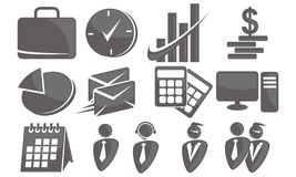 Business icon set. Logo Design Template Vector Royalty Free Stock Image