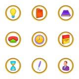 Business icon set, cartoon style Stock Image