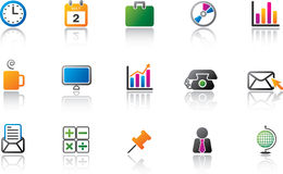 Business Icon Set - Color Stock Photography