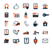 Business icon set. Finance, marketing, e-commerce. Flat design Royalty Free Stock Images