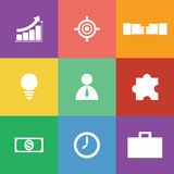 Business icon set, flat design Royalty Free Stock Image