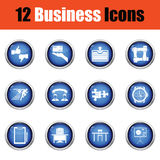 Business icon set. Stock Images