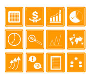 Business icon set. Graph money finance Royalty Free Stock Images