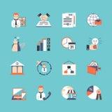 Business Icon Set Stock Photos