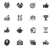 Business icon set. Business icons set and symbols for web user interface Royalty Free Stock Photography