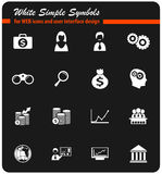 Business icon set. Business  icons for user interface design Royalty Free Stock Photos