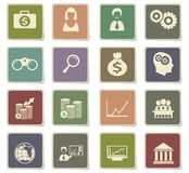 Business icon set. Business  icons for user interface design Stock Images