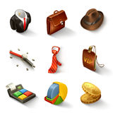 Business icon set. Illustration on white background Stock Image