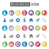 Business icon set isolated on white background. Stock Photo
