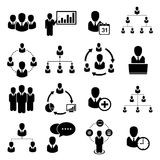 Business icon. Set,  office people set Stock Image