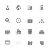 Business Icon Set Silhouette Stock Image