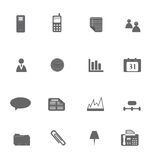 Business Icon Set Silhouette Royalty Free Stock Photography