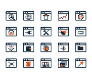 Business icon set. Software, web development, finance, banking. Stock Image